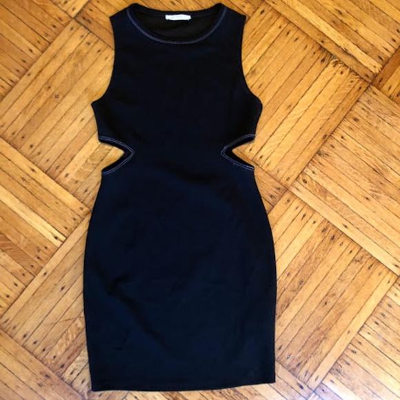 Zara Dresses & Skirts - Zara Black Cut-Out Dress